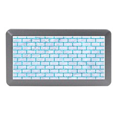 Brick1 White Marble & Turquoise Marble (r) Memory Card Reader (mini) by trendistuff