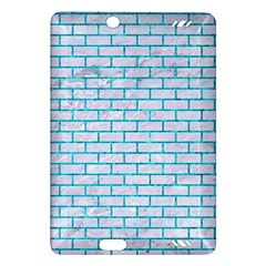 Brick1 White Marble & Turquoise Marble (r) Amazon Kindle Fire Hd (2013) Hardshell Case by trendistuff