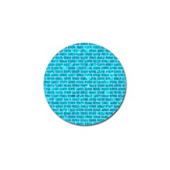 Brick1 White Marble & Turquoise Marble Golf Ball Marker (10 Pack) by trendistuff