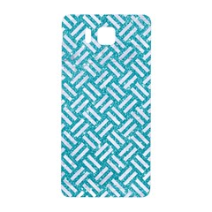 Woven2 White Marble & Turquoise Glitter Samsung Galaxy Alpha Hardshell Back Case by trendistuff