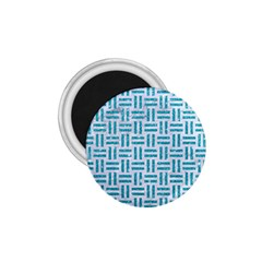 Woven1 White Marble & Turquoise Glitter (r) 1 75  Magnets by trendistuff