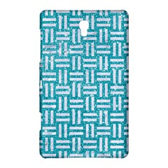 Woven1 White Marble & Turquoise Glitter Samsung Galaxy Tab S (8 4 ) Hardshell Case  by trendistuff