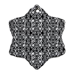 Dark Camo Style Design Snowflake Ornament (two Sides) by dflcprints