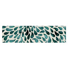 Teal Abstract Swirl Drops Satin Scarf (oblong) by vintage2030