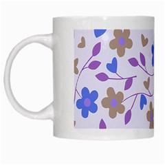 Blue Vintage Flowers White Mugs by vintage2030