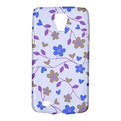 Blue Vintage Flowers Galaxy S4 Active by vintage2030