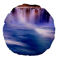Waterfall Large 18  Premium Flano Round Cushions by snowwhitegirl