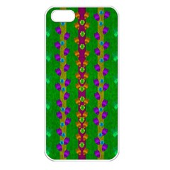 Roses Climbing To The Sun With Grace And Honor Apple Iphone 5 Seamless Case (white) by pepitasart