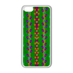 Roses Climbing To The Sun With Grace And Honor Apple Iphone 5c Seamless Case (white) by pepitasart