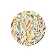 Decorative  Seamless Pattern Rubber Round Coaster (4 Pack)  by TastefulDesigns