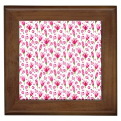 Watercolor Spring Flowers Pattern Framed Tiles by TastefulDesigns