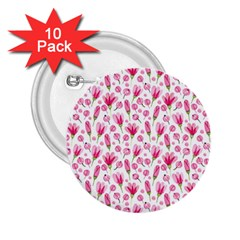 Watercolor Spring Flowers Pattern 2 25  Buttons (10 Pack)  by TastefulDesigns
