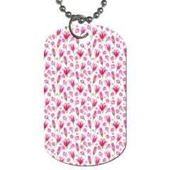 Watercolor Spring Flowers Pattern Dog Tag (two Sides) by TastefulDesigns