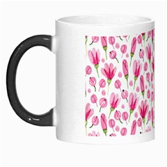 Watercolor Spring Flowers Pattern Morph Mugs by TastefulDesigns