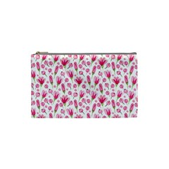 Watercolor Spring Flowers Pattern Cosmetic Bag (small)  by TastefulDesigns