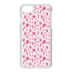 Watercolor Spring Flowers Pattern Apple Iphone 7 Seamless Case (white)