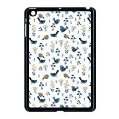 Spring Flowers And Birds Pattern Apple Ipad Mini Case (black) by TastefulDesigns