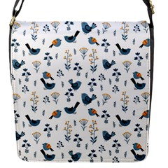 Spring Flowers And Birds Pattern Flap Messenger Bag (s)