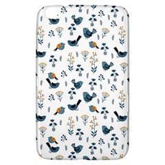 Spring Flowers And Birds Pattern Samsung Galaxy Tab 3 (8 ) T3100 Hardshell Case