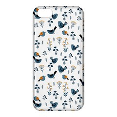 Spring Flowers And Birds Pattern Apple Iphone 5c Hardshell Case