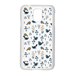 Spring Flowers And Birds Pattern Samsung Galaxy S5 Case (white)