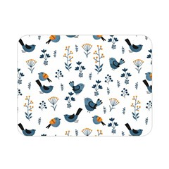 Spring Flowers And Birds Pattern Double Sided Flano Blanket (mini)