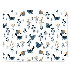Spring Flowers And Birds Pattern Double Sided Flano Blanket (large)  by TastefulDesigns