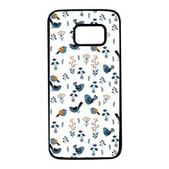 Spring Flowers And Birds Pattern Samsung Galaxy S7 Black Seamless Case