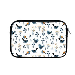 Spring Flowers And Birds Pattern Apple Macbook Pro 13  Zipper Case by TastefulDesigns