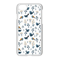 Spring Flowers And Birds Pattern Apple Iphone 8 Seamless Case (white) by TastefulDesigns