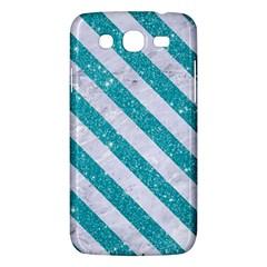 Stripes3 White Marble & Turquoise Glitter Samsung Galaxy Mega 5 8 I9152 Hardshell Case  by trendistuff