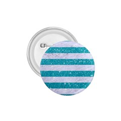 Stripes2white Marble & Turquoise Glitter 1 75  Buttons by trendistuff