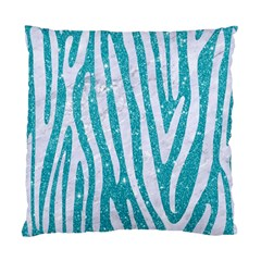 Skin4 White Marble & Turquoise Glitter (r) Standard Cushion Case (one Side) by trendistuff