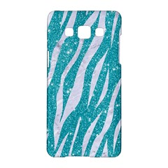 Skin3 White Marble & Turquoise Glitter Samsung Galaxy A5 Hardshell Case  by trendistuff