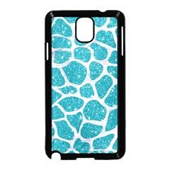 Skin1 White Marble & Turquoise Glitter (r) Samsung Galaxy Note 3 Neo Hardshell Case (black)