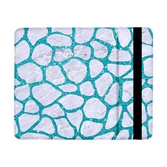 Skin1 White Marble & Turquoise Glitter Samsung Galaxy Tab Pro 8 4  Flip Case by trendistuff