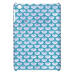Scales3 White Marble & Turquoise Glitter (r) Apple Ipad Mini Hardshell Case by trendistuff