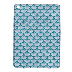 Scales3 White Marble & Turquoise Glitter (r) Ipad Air 2 Hardshell Cases by trendistuff