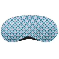 Scales2 White Marble & Turquoise Glitter (r) Sleeping Masks by trendistuff