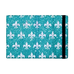 Royal1 White Marble & Turquoise Glitter (r) Ipad Mini 2 Flip Cases by trendistuff