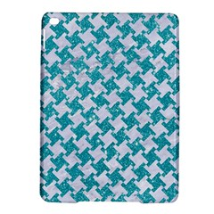 Houndstooth2 White Marble & Turquoise Glitter Ipad Air 2 Hardshell Cases by trendistuff