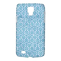 Hexagon1 White Marble & Turquoise Glitter (r) Galaxy S4 Active by trendistuff