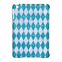 Diamond1 White Marble & Turquoise Glitter Apple Ipad Mini Hardshell Case (compatible With Smart Cover) by trendistuff