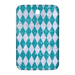 Diamond1 White Marble & Turquoise Glitter Samsung Galaxy Note 8 0 N5100 Hardshell Case  by trendistuff