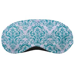 Damask1 White Marble & Turquoise Glitter (r) Sleeping Masks by trendistuff