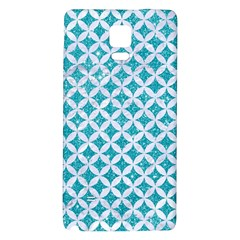 Circles3 White Marble & Turquoise Glitter Galaxy Note 4 Back Case by trendistuff