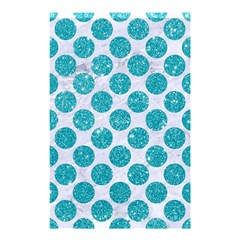 Circles2 White Marble & Turquoise Glitter (r) Shower Curtain 48  X 72  (small)  by trendistuff