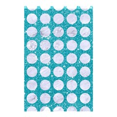 Circles1 White Marble & Turquoise Glitter Shower Curtain 48  X 72  (small)  by trendistuff