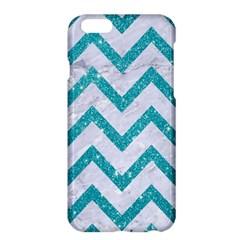 Chevron9 White Marble & Turquoise Glitter (r) Apple Iphone 6 Plus/6s Plus Hardshell Case