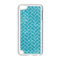 Brick2 White Marble & Turquoise Glitter Apple Ipod Touch 5 Case (white)